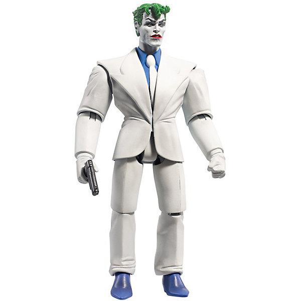Фигурка Mattel Комиксы DC Batman Джокер, 16 смГерои комиксов<br>Характеристики товара:<br><br>• возраст: от 3 лет;<br>• материал: пластик;<br>• в комплекте: фигурка, уникальная деталь, аксессуары;<br>• высота фигурки: 15 см;<br>• размер упаковки: 26,5х15х5,5 см;<br>• вес упаковки: 301 гр.;<br>• страна производитель: Китай.<br><br>Фигурка перcонажа комиксов DC Mattel представляет собой одного из известных героев комиксов DС. У фигурки подвижные руки и ноги. С персонажами дети смогут придумать свои увлекательные сюжеты для игры. В набор входит дополнительная деталь для создания большой уникальной фигурки Justice Buster. Игрушка изготовлена из качественных безопасных материалов.<br><br>Фигурку перcонажа комиксов DC Mattel можно приобрести в нашем интернет-магазине.<br>Ширина мм: 150; Глубина мм: 55; Высота мм: 265; Вес г: 301; Возраст от месяцев: 36; Возраст до месяцев: 120; Пол: Мужской; Возраст: Детский; SKU: 7191231;
