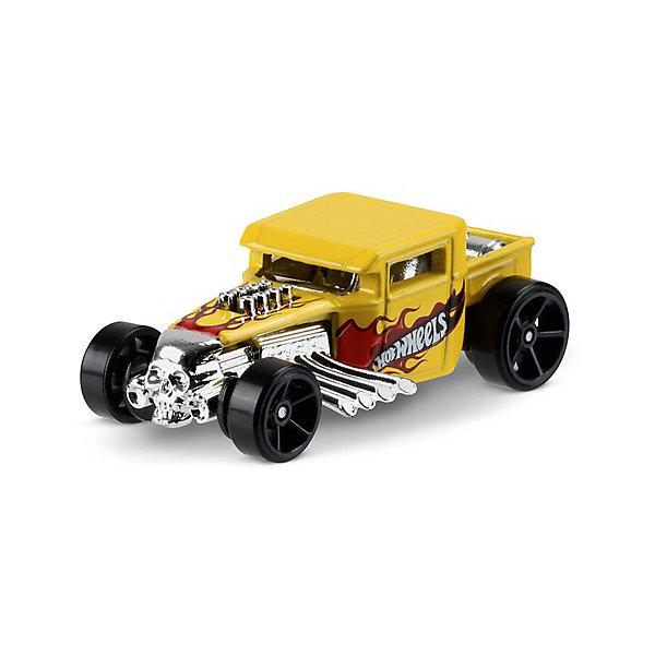 Базовая машинка Mattel Hot Wheels, Bone ShakerМашинки<br>Характеристики:<br><br>• возраст: от 3 лет;<br>• материал: металл, пластмасса;<br>• вес упаковки: 30 гр.;<br>• размер упаковки: 11х4х11 см;<br>• тип упаковки: блистерный;<br>• страна бренда: США.<br><br>Машинка Hot Wheels от Mattel входит в группу моделей базовой коллекции. Миниатюры этой серии изображают реальные автомобили, спорткары, фургоны, мотоциклы в масштабе 1:64, а также модели с собственным оригинальным дизайном. Собрав свою линейку машинок, ребенок сможет устраивать заезды, гонки и меняться экземплярами с друзьями.<br><br>Монолитные элементы игрушки увеличивают ее прочность. Падение и столкновение с твердыми предметами во время игр не отражается на внешнем виде и ходе машинки. Кузов отчетливо детализирован, покрыт стойкими насыщенными красками. Колеса легко вращаются вокруг своей оси.<br><br>Игрушка выполнена из качественных материалов, сертифицированных по стандартам безопасности для использования детьми.<br><br>Машинку Hot Wheels из базовой коллекции можно купить в нашем интернет-магазине.<br>Ширина мм: 110; Глубина мм: 45; Высота мм: 110; Вес г: 30; Возраст от месяцев: 36; Возраст до месяцев: 96; Пол: Мужской; Возраст: Детский; SKU: 7191306;