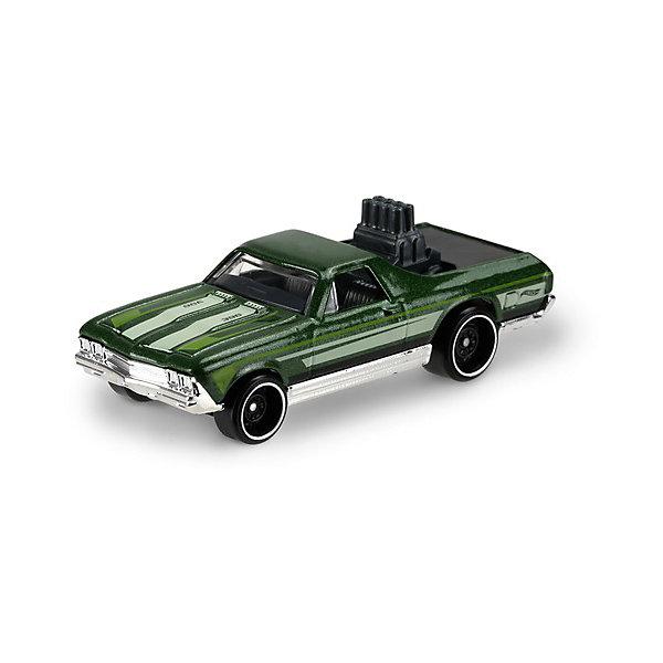 Базовая машинка Mattel Hot Wheels, 68 EL CaminoМашинки<br>Характеристики:<br><br>• возраст: от 3 лет;<br>• материал: металл, пластмасса;<br>• вес упаковки: 30 гр.;<br>• размер упаковки: 11х4х11 см;<br>• тип упаковки: блистерный;<br>• страна бренда: США.<br><br>Машинка Hot Wheels от Mattel входит в группу моделей базовой коллекции. Миниатюры этой серии изображают реальные автомобили, спорткары, фургоны, мотоциклы в масштабе 1:64, а также модели с собственным оригинальным дизайном. Собрав свою линейку машинок, ребенок сможет устраивать заезды, гонки и меняться экземплярами с друзьями.<br><br>Монолитные элементы игрушки увеличивают ее прочность. Падение и столкновение с твердыми предметами во время игр не отражается на внешнем виде и ходе машинки. Кузов отчетливо детализирован, покрыт стойкими насыщенными красками. Колеса легко вращаются вокруг своей оси.<br><br>Игрушка выполнена из качественных материалов, сертифицированных по стандартам безопасности для использования детьми.<br><br>Машинку Hot Wheels из базовой коллекции можно купить в нашем интернет-магазине.<br>Ширина мм: 110; Глубина мм: 45; Высота мм: 110; Вес г: 30; Возраст от месяцев: 36; Возраст до месяцев: 96; Пол: Мужской; Возраст: Детский; SKU: 7191313;