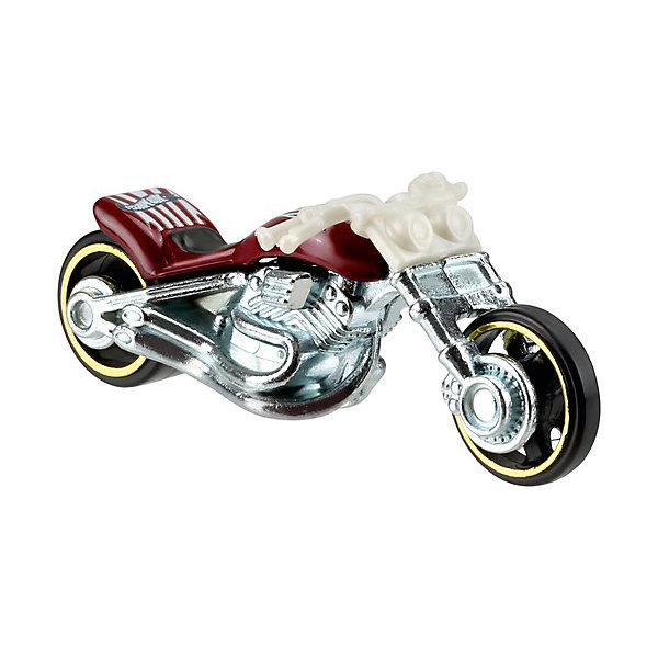 Машинка Hot Wheels из базовой коллекцииМашинки<br>Характеристики:<br><br>• возраст: от 3 лет;<br>• материал: металл, пластмасса;<br>• вес упаковки: 30 гр.;<br>• размер упаковки: 11х4х11 см;<br>• тип упаковки: блистерный;<br>• страна бренда: США.<br><br>Мотоцикл Hot Wheels от Mattel входит в группу моделей базовой коллекции. Миниатюры этой серии изображают реальные автомобили, спорткары, фургоны, мотоциклы в масштабе 1:64, а также модели с собственным оригинальным дизайном. Собрав свою линейку машинок, ребенок сможет устраивать заезды, гонки и меняться экземплярами с друзьями.<br><br>Монолитные элементы игрушки увеличивают ее прочность. Падение и столкновение с твердыми предметами во время игр не отражается на внешнем виде и ходе мотоцикла Кузов отчетливо детализирован, покрыт стойкими насыщенными красками. Колеса легко вращаются вокруг своей оси.<br><br>Игрушка выполнена из качественных материалов, сертифицированных по стандартам безопасности для использования детьми.<br><br>Машинку Hot Wheels из базовой коллекции можно купить в нашем интернет-магазине.<br>Ширина мм: 110; Глубина мм: 45; Высота мм: 110; Вес г: 30; Возраст от месяцев: 36; Возраст до месяцев: 96; Пол: Мужской; Возраст: Детский; SKU: 7191321;