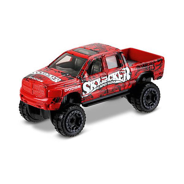 Базовая машинка Mattel Hot Wheels, RAM 1500Машинки<br>Характеристики:<br><br>• возраст: от 3 лет;<br>• материал: металл, пластмасса;<br>• вес упаковки: 30 гр.;<br>• размер упаковки: 11х4х11 см;<br>• тип упаковки: блистерный;<br>• страна бренда: США.<br><br>Внедорожник Hot Wheels от Mattel входит в группу моделей базовой коллекции. Миниатюры этой серии изображают реальные автомобили, спорткары, фургоны, мотоциклы в масштабе 1:64, а также модели с собственным оригинальным дизайном. Собрав свою линейку машинок, ребенок сможет устраивать заезды, гонки и меняться экземплярами с друзьями.<br><br>Монолитные элементы игрушки увеличивают ее прочность. Падение и столкновение с твердыми предметами во время игр не отражается на внешнем виде и ходе машинки. Кузов отчетливо детализирован, покрыт стойкими насыщенными красками. Колеса легко вращаются вокруг своей оси.<br><br>Игрушка выполнена из качественных материалов, сертифицированных по стандартам безопасности для использования детьми.<br><br>Машинку Hot Wheels из базовой коллекции можно купить в нашем интернет-магазине.<br>Ширина мм: 110; Глубина мм: 45; Высота мм: 110; Вес г: 30; Возраст от месяцев: 36; Возраст до месяцев: 96; Пол: Мужской; Возраст: Детский; SKU: 7191333;