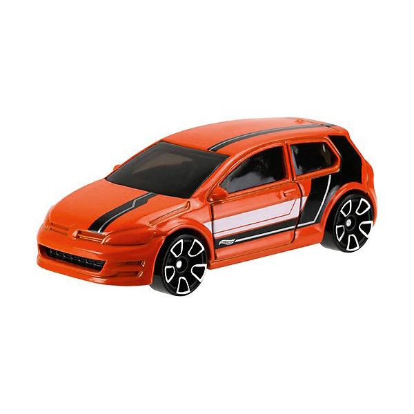 Базовая машинка Mattel Hot Wheels, Volkswagen Golf MK7Популярные игрушки<br>Характеристики:<br><br>• возраст: от 3 лет;<br>• материал: металл, пластмасса;<br>• вес упаковки: 30 гр.;<br>• размер упаковки: 11х4х11 см;<br>• тип упаковки: блистерный;<br>• страна бренда: США.<br><br>Машинка Hot Wheels от Mattel входит в группу моделей базовой коллекции. Миниатюры этой серии изображают реальные автомобили, спорткары, фургоны, мотоциклы в масштабе 1:64, а также модели с собственным оригинальным дизайном. Собрав свою линейку машинок, ребенок сможет устраивать заезды, гонки и меняться экземплярами с друзьями.<br><br>Монолитные элементы игрушки увеличивают ее прочность. Падение и столкновение с твердыми предметами во время игр не отражается на внешнем виде и ходе машинки. Кузов отчетливо детализирован, покрыт стойкими насыщенными красками. Колеса легко вращаются вокруг своей оси.<br><br>Игрушка выполнена из качественных материалов, сертифицированных по стандартам безопасности для использования детьми.<br><br>Машинку Hot Wheels из базовой коллекции можно купить в нашем интернет-магазине.<br>Ширина мм: 110; Глубина мм: 45; Высота мм: 110; Вес г: 30; Возраст от месяцев: 36; Возраст до месяцев: 96; Пол: Мужской; Возраст: Детский; SKU: 7191345;