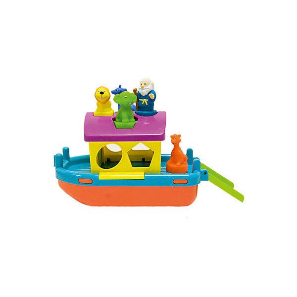 Сортер Полесье КовчегРазвивающие игрушки<br>Характеристики товара:<br><br>• возраст: от 1 года;<br>• цвет: оранжевый, голубой, желтый;<br>• материал: пластик;<br>• размер упаковки: 31 x 17,5 x 14,5 см.;<br>• упаковка: картонная коробка;<br>• наименование бренда, страна бренда: Полесье, Беларусь;<br>• страна изготовитель: Беларусь.<br><br>Корабль «Ковчег» от торговой марки Полесье непременно понравится вашему малышу. В комплекте он найдет ковчег, фигурку Ноя и различных животных на подставках. <br><br>Игрушка представляет собой своеобразный сортер - крохе предстоит подобрать подходящую форму подставки и установить животных на крыше ковчега. После того, как животные займут свои места, малыш сможет прокатить их в ванной. Корабль хорошо держится на воде, поэтому игра превратиться в настоящее морское приключение. После путешествия ребенка ждет новое задание: животных нужно вернуть назад в ковчег через окошки-формы. <br><br>У корабля снимается крыша, открываются передние дверцы, а также имеется откидной трап. Все игрушки выполнены из высококачественных безопасных материалов.<br><br>Корабль «Ковчег», с фигурками, Полесье можно купить в нашем интернет-магазине.<br><br>Ширина мм: 305<br>Глубина мм: 150<br>Высота мм: 185<br>Вес г: 613<br>Возраст от месяцев: 12<br>Возраст до месяцев: 36<br>Пол: Унисекс<br>Возраст: Детский<br>SKU: 7191537