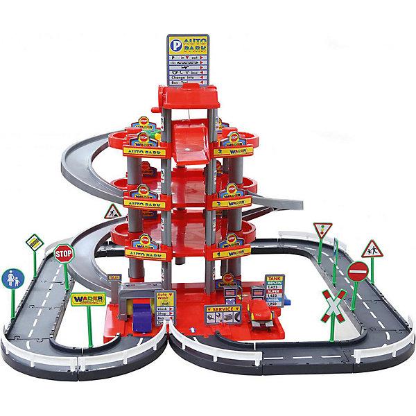 Парковка Полесье Автопарк 4 уровня, красный (в коробке)Парковки и гаражи<br>Характеристики товара:<br><br>• возраст: от 3 лет;<br>• цвет: красный;<br>• комплект:детали для сборки паркинга, наклейки, дорожные знаки, автомобили.;<br>• материал: пластик;<br>• размер упаковки: 49,5 х 19,5 х 56.5 см;<br>• упаковка: картонная коробка;<br>• наименование бренда, страна бренда: Полесье, Беларусь;<br>• страна изготовитель: Беларусь.<br><br>Паркинг 4-уровневый с дорогой и автомобилями - Игровой набор представлен элементами для сборки 4-х уровневой парковки с гаражом, автомобильной дорогой с дорожными знаками для увлекательной игры маленьких автолюбителей. Парковка имеет 4 уровня, что позволит вместить в неё большое количество автомобилей из игрушечного автопарка ребёнка.<br><br>Перед паркингом находится дорога, где автомобилисты смогут организовать спортивные заезды на скорость. Дорога оснащена разметкой и дорожными знаками, выполненными весьма реалистично. Чтобы подняться на самый высокий уровень автолюбители могут воспользоваться спиралевидной дорожкой. На первом уровне для удобства автомобилистов находится станция технического обслуживания и автомойка.<br><br>Игрушка выполнена в ярких цветах, паркинг украшают цветные наклейки. Все элементы набора выполнены из прочного и качественного нетоксичного пластика, окрашенного с использованием сертифицированных красителей.<br><br>Игры с набором развивают воображение и фантазию ребёнка, тренируют моторику рук и координацию движений. Убирая после игры все свои машинки в гараж, ребенок приучится к порядку.<br><br>Паркинг 4-уровневый с дорогой и автомобилями, красный, в коробке, Полесье можно купить в нашем интернет-магазине.<br>Ширина мм: 495; Глубина мм: 195; Высота мм: 565; Вес г: 3331; Возраст от месяцев: 12; Возраст до месяцев: 36; Пол: Мужской; Возраст: Детский; SKU: 7191563;
