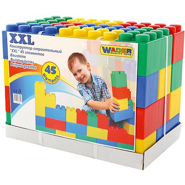 Конструктор Полесье XXL, 45 деталейПластмассовые конструкторы<br>Характеристики товара:<br><br>• возраст: от 3 лет;<br>• цвет: мультиколор;<br>• количество элементов: 45 шт.;<br>• материал: пластик;<br>• размер упаковки: 55,5x33,5x42 см.;<br>• упаковка: картонная подложка;<br>• наименование бренда, страна бренда: Полесье, Беларусь;<br>• страна изготовитель: Беларусь.<br><br>Строительный конструктор «XXL» от торговой марки Полесье необходимая игрушка в любой детской комнате, которая надолго займет внимание вашего ребенка. Это превосходная возможность для ребенка с интересом и пользой провести время. <br><br>Строительный конструктор «XXL»  представляет собой набор из 45 крупных деталей. Все элементы набора изготовлены из пластика и окрашены в разнообразные яркие цвета. Проявив фантазию, из деталей данного конструктора можно будет собрать множество различных моделей и конструкций, отличающихся своим крупным размером.<br><br>Такой набор не только позволит ребенку интересно провести время, собирая крепость, гараж или башню, но и будет способствовать развитию творческого мышления, а также цветового восприятия.<br><br>Строительный конструктор «XXL», 45 крупных элементов в ведёрке с крышкой, Полесье можно купить в нашем интернет-магазине.<br>Ширина мм: 555; Глубина мм: 335; Высота мм: 420; Вес г: 5916; Возраст от месяцев: 12; Возраст до месяцев: 36; Пол: Унисекс; Возраст: Детский; SKU: 7191565;