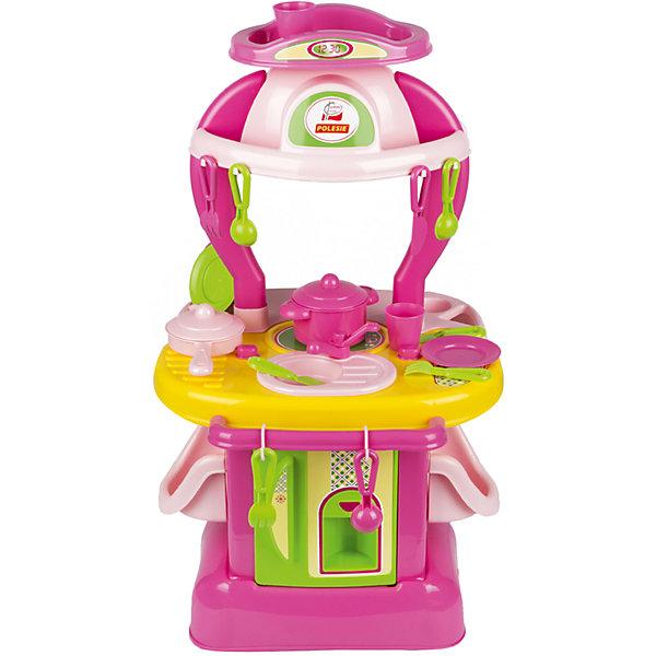 Кухня Полесье Кухня изящная № 1 в коробкеДетские кухни<br>Характеристики товара:<br><br>• возраст: от 3 лет;<br>• цвет: розовый, зеленый;<br>• комплект: кухня, 21 предмет;<br>• материал: пластик;<br>• размер игрушки: 42,5 х 25,5 х 72,5 см;<br>• размер упаковки: 44.5 х 37.5 х 74 см.;<br>• упаковка: картонная коробка;<br>• наименование бренда, страна бренда: Полесье, Беларусь;<br>• страна изготовитель: Беларусь.<br><br>Набор «Кухня изящная №1» включает в себя игровую кухоньку, а также 21 столовый аксессуар, с которым игра станет значительно увлекательней. В наборе есть стаканы, тарелки, ложки, вилки, кастрюля, сковорода и многое другое. <br><br>Все игрушки выполнены из высококачественного пластика, не токсичного и безопасного для здоровья. Кухня выполнена в зеленом и розовом цветах и имеет стильный дизайн, который сразу привлекает внимание. В кухню встроена игрушечная конфорка и мойка. Наверху имеется наклейка с изображением часов.<br><br>При помощи этой восхитительной кухни от известного белорусского бренда Полесье ваша девочка научится самостоятельно готовить изысканные блюда. <br><br>Набор «Кухня изящная №1», в коробке, Полесье можно купить в нашем интернет-магазине.<br>Ширина мм: 385; Глубина мм: 275; Высота мм: 495; Вес г: 2619; Возраст от месяцев: 12; Возраст до месяцев: 36; Пол: Женский; Возраст: Детский; SKU: 7191571;