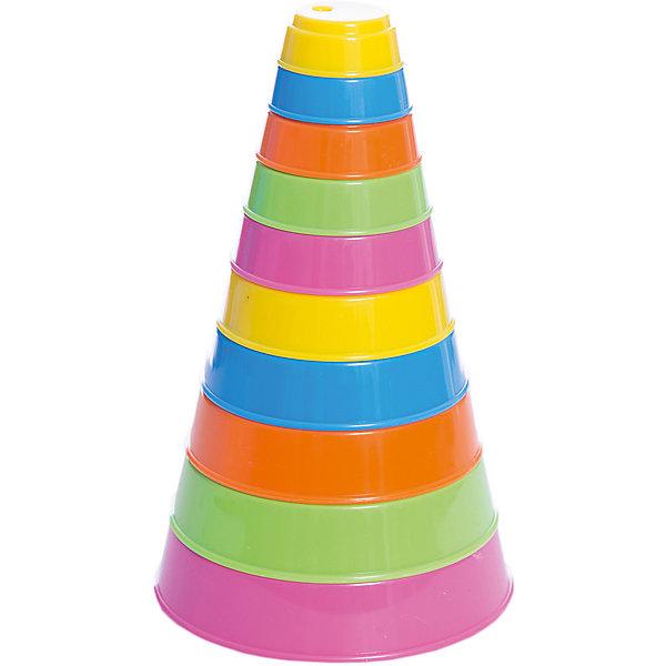 Пирамидка Полесье Занимательная пирамидка, 10 деталейРазвивающие игрушки<br>Характеристики товара:<br><br>• возраст: от 1 года;<br>• количество деталей: 10 шт;<br>• высота пирамидки: 17.5 см.;<br>• диаметр основания: 10.5 см.;<br>• материал: пластик;<br>• упаковка: сетка;<br>• наименование бренда, страна бренда: Полесье, Беларусь;<br>• страна изготовитель: Беларусь.<br><br>Игрушка для малышей «Занимательная пирамидка» состоит из 10 элементов разных цветов. Все элементы изготовлены из высококачественного пластика, не токсичны и не вызывают аллергии. <br><br>Собирая пирамидку, ребенок тренирует важнейшие качества, необходимые для правильного развития - моторику, логическое и пространственное мышление. <br><br>С помощью пирамидки можно обучить малыша цветам и познакомить его с геометрической формой - кругом. Детали пирамидки также можно использовать как трафарет, обводя их на бумаге, чтобы нарисовать идеальный круг.<br><br>Игрушку для малышей «Занимательная пирамидка» ,10 деталей, Полесье можно купить в нашем интернет-магазине.<br>Ширина мм: 105; Глубина мм: 105; Высота мм: 175; Вес г: 88; Возраст от месяцев: 12; Возраст до месяцев: 36; Пол: Унисекс; Возраст: Детский; SKU: 7191587;