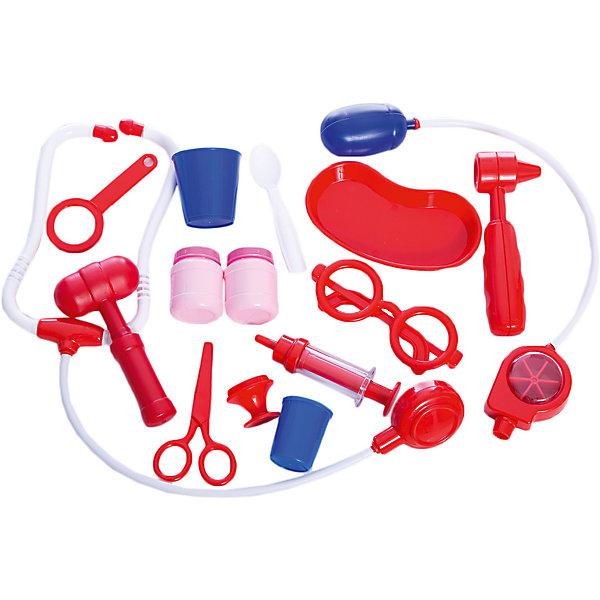 Игровой набор Полесье Доктор № 2 в контейнереНаборы доктора и ветеринара<br>Характеристики товара:<br><br>• возраст: от 3 лет;<br>• цвет: белый, красный;<br>• материал: пластик;<br>• размер упаковки: 28.5 х 19.5 х 15.5 см.;<br>• упаковка: контейнер;<br>• наименование бренда, страна бренда: Полесье, Беларусь;<br>• страна изготовитель: Беларусь.<br><br>Игровой набор «Доктор №2» представляет собой детский комплект игрушек, предназначенных для игры в доктора и пациента. <br><br>В комплект входят: контейнер с ручкой, фонендоскоп, пульсометр, очки, прибор для измерения давления, лоток медицинский, ножницы, молоточек, дефектоскопический молоток, 2 баночки для лекарств, инструмент для осмотра ротовой полости, шприц, пробирка, средство для полоскания рта, лупа.<br><br>В красивом и удобном контейнере для медицинских инструментов помещается все необходимое для того, чтобы оказать больному первую помощь, поставить ему диагноз, измерить давление, обработать и перевязать рану. Ребенок почувствует себя настоящим врачом. <br><br>Сюжетно-ролевые игры развивают фантазию у детей, расширяют их кругозор.<br><br>Игровой набор «Доктор №2», в контейнере, Полесье можно купить в нашем интернет-магазине.<br><br>Ширина мм: 285<br>Глубина мм: 195<br>Высота мм: 155<br>Вес г: 522<br>Возраст от месяцев: 12<br>Возраст до месяцев: 36<br>Пол: Унисекс<br>Возраст: Детский<br>SKU: 7191595