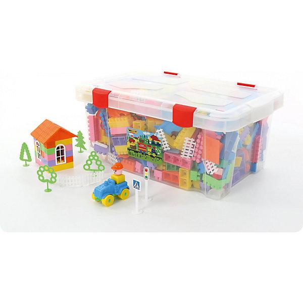 Конструктор Полесье Строитель, 505 деталей (в контейнере)Пластмассовые конструкторы<br>Характеристики товара:<br><br>• возраст: от 3 лет;<br>• цвет: мультиколор;<br>• количество элементов: 505 шт.;<br>• материал: пластик;<br>• размер упаковки: 61,5x41x28 см.;<br>• упаковка: пластиковый контейнер;<br>• наименование бренда, страна бренда: Полесье, Беларусь;<br>• страна изготовитель: Беларусь.<br><br>Конструктор «Строитель» от торговой марки Полесье необходимая игрушка в любой детской комнате, которая надолго займет внимание вашего ребенка. Это превосходная возможность для ребенка с интересом и пользой провести время. <br><br>Комплект включает в себя 505 деталей, которые хранятся в компактном контейнере с ручками. При необходимости его всегда можно взять с собой в поездку.<br><br>Элементы набора изготовлены из качественной и прочной пластмассы, безопасной для здоровья ребенка. Яркие и красочные детали прекрасно подойдут для свободного конструирования и подарят безграничный простор для фантазии.<br><br>Игра с конструктором развивает образное и пространственное мышления, стимулирует фантазию и творческое воображение, организаторские навыки и речь.<br><br>Конструктор «Строитель», 505 элементов в контейнере с крышкой, Полесье можно купить в нашем интернет-магазине.<br>Ширина мм: 615; Глубина мм: 410; Высота мм: 280; Вес г: 5561; Возраст от месяцев: 12; Возраст до месяцев: 36; Пол: Унисекс; Возраст: Детский; SKU: 7191599;