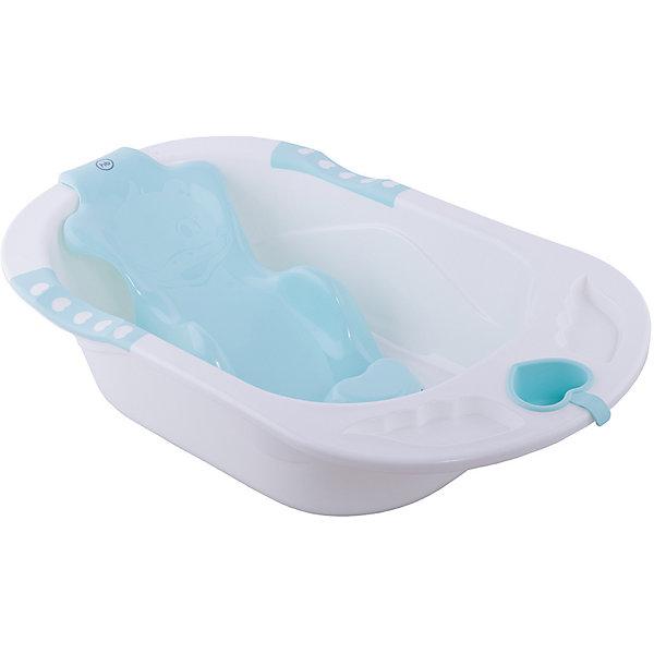 Ванна детская Bath Comfort, Happy Baby, аквамаринТовары для купания<br>ХАРАКТЕРИСТИКИ<br>Объем 40 литров<br>Специально для детей с рождения<br>Съемная анатомическая горка<br>Опорные точки обеспечивают безопасность малыша<br>Есть слив<br>ОПИСАНИЕ<br>Ванночка для купания малыша с самого рождения. Ванна BATH COMFORT изготовлена из высококачественного прочного пластика. В комплект входит анатомическая горка. Благодаря горке голова малыша всегда будет над водой, что позволит безопасно купать деток с самого рождения. Опорные точки горки (подмышечная и паховая зона) не дадут ребёнку соскользнуть в воду, а сама горка надёжно прикрепляется присосками к ванне. Также в комплекте к ванночке удобный ковшик в виде сердечка и крышка для слива воды.<br>Ширина мм: 850; Глубина мм: 510; Высота мм: 210; Вес г: 1000; Цвет: синий; Возраст от месяцев: 0; Возраст до месяцев: 6; Пол: Унисекс; Возраст: Детский; SKU: 7191624;