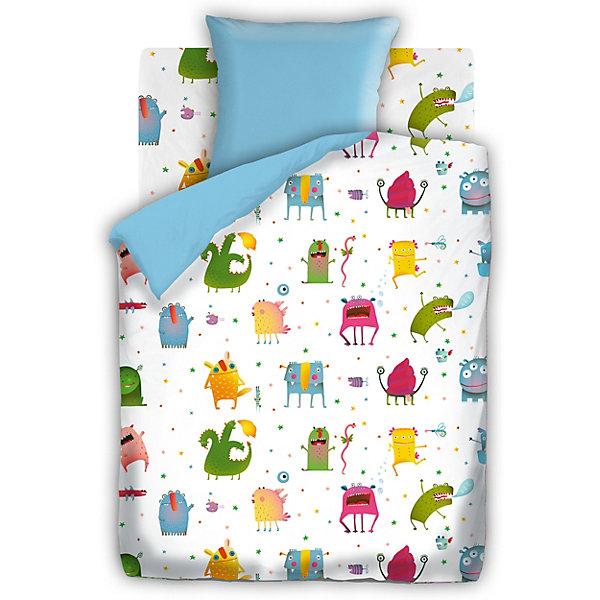 Детское постельное белье 1,5 сп. Непоседа Монстрики, голубойДетское постельное бельё<br>Характеристики:<br><br>• тип: постельное белье;<br>• возраст: от 3 лет;<br>• вес:  1,2 кг; <br>• материал: 100% хлопок (бязь);<br>• пододельяник: 143х215 см;<br>• простынь: 150х215 см;<br>• наволочка: 70х70 см (1 шт);<br>• размер: 40х35х10 см;<br>• страна бренда: Россия;<br>• бренд: Непоседа.<br><br>Детское постельное белье 1,5 сп. «Монстрики»  голубой Непоседа  - это комплект, который состоит из 100% хлопка самого простого полотняного переплетения из достаточно толстых, но мягких нитей. Постель разработана для детей дошкольного, младшего и среднего школьного возраста. Разнообразие расцветок поможет подобрать именно ту, которая понравится ребёнку и сделает его спальное место комфортным и уютным. <br><br>Благодаря современным технологиям окраски, простыни не теряют свой цвет даже после множества стирок, комплект не теряет форму, легко гладится. Детское постельное бельё проходит строгую систему контроля качества и соответствует всем нормам механической, химической и биологической безопасности.<br><br>Детское постельное белье 1,5 сп. «Монстрики»  голубой  Непоседа можно купить в нашем интернет-магазине.<br>Ширина мм: 400; Глубина мм: 350; Высота мм: 100; Вес г: 1200; Возраст от месяцев: 36; Возраст до месяцев: 144; Пол: Мужской; Возраст: Детский; SKU: 7191664;