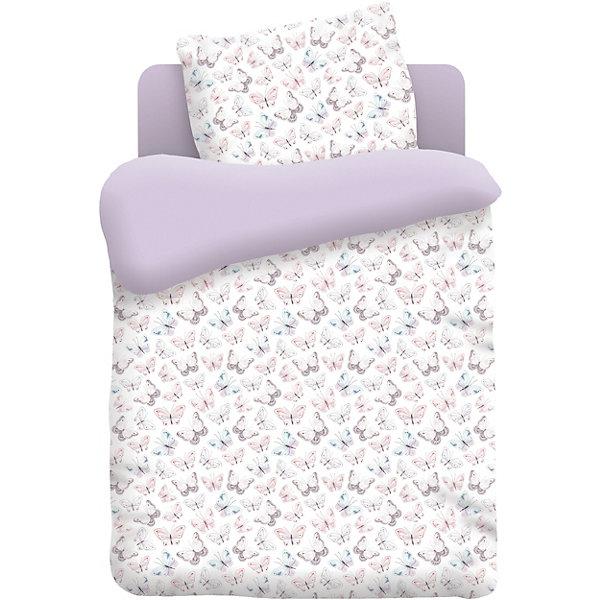 Детское постельное белье 3 предмета Непоседа Бабочки, лиловыйПостельное белье в кроватку новорождённого<br>Характеристики:<br><br>• тип: постельное белье;<br>• возраст: от 0 лет;<br>• вес:  600 гр; <br>• материал: 100% хлопок (бязь);<br>• пододельяник: 145х110 см;<br>• простынь: 150х110 см;<br>• наволочка: 40х60 см (1 шт);<br>• размер: 25х25х8 см;<br>• страна бренда: Россия;<br>• бренд: Непоседа.<br><br>Детское постельное белье 3 предмета «Бабочки» Непоседа, лиловый - это комплект, который состоит из 100% хлопка, поэтому подходит даже для самых маленьких детей. Разнообразие расцветок поможет подобрать именно ту, которая понравится ребёнку и сделает его спальное место комфортным и уютным. <br><br>Благодаря современным технологиям окраски, простыни не теряют свой цвет даже после множества стирок, комплект не теряет форму, легко гладится. Детское постельное бельё проходит строгую систему контроля качества и соответствует всем нормам механической, химической и биологической безопасности. Такое постельное белье мягкое, нежное, гипоаллергенное, быстро впитывает влагу<br><br>Детское постельное белье 3 предмета «Бабочки» Непоседа, лиловый можно купить в нашем интернет-магазине.<br>Ширина мм: 250; Глубина мм: 250; Высота мм: 80; Вес г: 600; Возраст от месяцев: 0; Возраст до месяцев: 36; Пол: Женский; Возраст: Детский; SKU: 7191666;