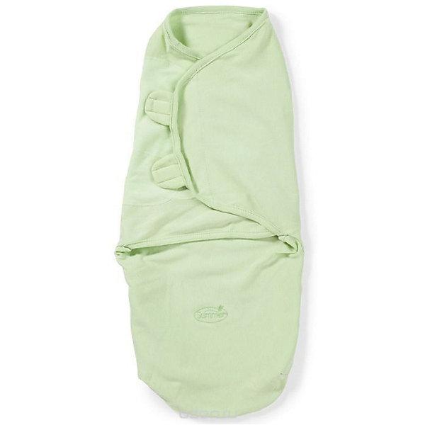 Конверт на липучке Swaddleme, размер S/M, зеленыйКонверты для пеленания<br>Характеристики:<br><br>• размер конверта: S/M;<br>• вес ребенка: 3-6 кг;<br>• возраст ребенка: от рождения до 4-х месяцев;<br>• длина конверта: 50 см;<br>• регулируемая система крепления;<br>• тип крепления: на липучке;<br>• регулируемые крылья для закрытия конверта;<br>• размер конверта регулируется под рост и комплекцию ребенка;<br>• открывающийся низ конверта;<br>• материал: 100% хлопок;<br>• состав: хлопок и нити эластана;<br>• допускается стирка при температуре 30 градусов.<br><br>Конверт мягко облегает и не ограничивает движения ребенка. Снижается рефлекс внезапного вздрагивания. Даже самый активный малыш не распеленается во время сна. В области ножек конверт можно открыть, чтобы без труда сменить малышу подгузник. Ребенок при этом остается в конверте, который вовсе не обязательно полностью раскрывать. Удобный конверт из гипоаллергенного материала рекомендуется для пеленания малыша, чтобы обеспечить крепкий спокойный сон.<br><br>Конверт на липучке Swaddleme, размер S/M, зеленый можно купить в нашем интернет-магазине.<br>Ширина мм: 150; Глубина мм: 220; Высота мм: 30; Вес г: 136; Возраст от месяцев: 0; Возраст до месяцев: 6; Пол: Унисекс; Возраст: Детский; SKU: 7191936;