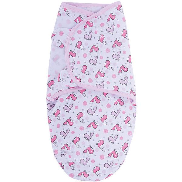 Конверт на липучке Swaddleme, размер S/M, розовые птичкиКонверты для пеленания<br>Пеленание успокаивает новорожденных путем воссоздания знакомых ему чувств, как в утробе мамы. <br>Мягко облегая, конверт не ограничивает движение ребенка, и в тоже время помогает снизить рефлекс внезапного вздрагивания, благодаря этому сон малыша и родителей будет более крепким. <br>Регулируемые крылья для закрытия конверта сделаны таким образом, что даже самый активный ребенок не сможет распеленаться во время сна. <br>Объятия крыльев регулируются по мере роста ребенка. <br>Конверт можно открыть в области ног малыша для легкой смены подгузников - нет необходимости разворачивать детские ручки. <br>Два размера на выбор!<br>Состав: хлопок и нити эластана <br>Длина конверта (размера S): 50 см<br><br>Ширина мм: 150<br>Глубина мм: 220<br>Высота мм: 30<br>Вес г: 136<br>Возраст от месяцев: 0<br>Возраст до месяцев: 6<br>Пол: Унисекс<br>Возраст: Детский<br>SKU: 7191948