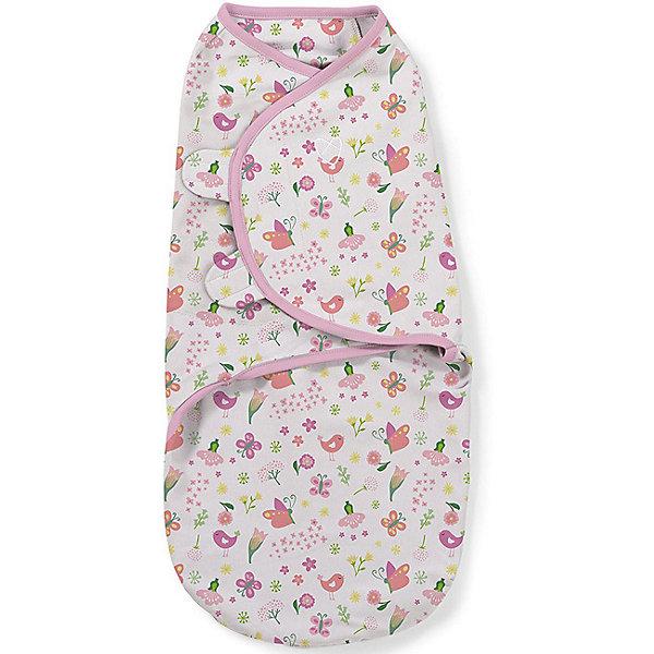 Конверт на липучке Swaddleme, размер S/M, бабочки цветочкиКонверты для пеленания<br>Пеленание успокаивает новорожденных путем воссоздания знакомых ему чувств, как в утробе мамы. <br>Мягко облегая, конверт не ограничивает движение ребенка, и в тоже время помогает снизить рефлекс внезапного вздрагивания, благодаря этому сон малыша и родителей будет более крепким. <br>Регулируемые крылья для закрытия конверта сделаны таким образом, что даже самый активный ребенок не сможет распеленаться во время сна. <br>Объятия крыльев регулируются по мере роста ребенка. <br>Конверт можно открыть в области ног малыша для легкой смены подгузников - нет необходимости разворачивать детские ручки. <br>Два размера на выбор!<br>Состав: хлопок и нити эластана <br>Длина конверта (размера S): 50 см<br><br>Ширина мм: 150<br>Глубина мм: 220<br>Высота мм: 30<br>Вес г: 136<br>Возраст от месяцев: 0<br>Возраст до месяцев: 6<br>Пол: Унисекс<br>Возраст: Детский<br>SKU: 7191950