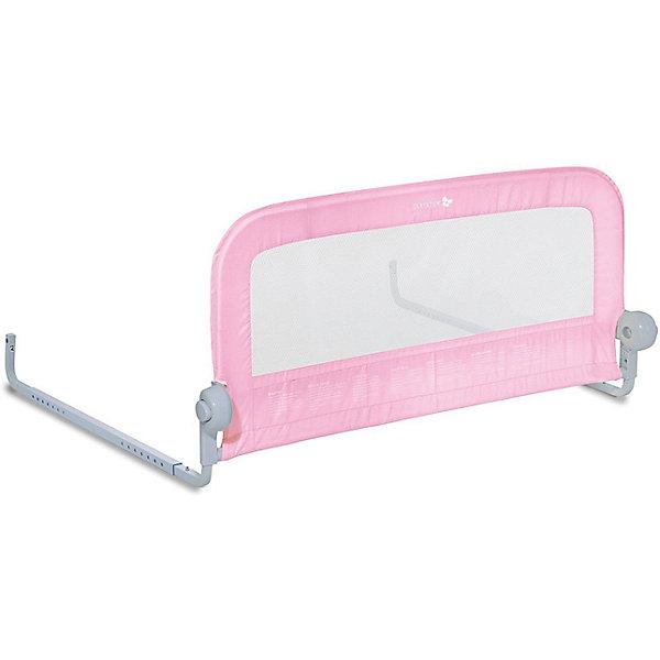 Универсальный ограничитель для кровати Single Fold Bedrail, розовыйОграждения в кроватку<br>Собирается в течение нескольких минут без инструментов.<br>Подходит для матрасов с размерами 70-90х140-190 см.<br>Рекомендовано для детей от 18 месяцев до 5 лет.<br>Соответствует стандартам ASTM F2085.<br>Складывается вниз, чтобы  родители могли присесть на край кровати или легко поменять постельное белье.<br>Размеры ограничителя (ШхВхГ): 90 x 51 х 1,9 см<br>Материал: пластик, ткань, металл.<br>Ширина мм: 270; Глубина мм: 470; Высота мм: 100; Вес г: 2700; Цвет: розовый; Возраст от месяцев: 18; Возраст до месяцев: 60; Пол: Унисекс; Возраст: Детский; SKU: 7191956;