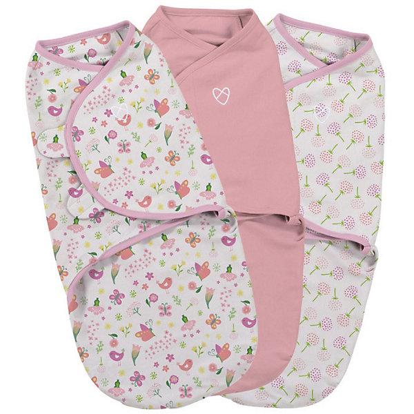 Конверт на липучке Swaddleme, размер S/M, (3 шт), цветы/розовый/бабочкиКонверты для пеленания<br>Пеленание успокаивает новорожденных путем воссоздания знакомых ему чувств, как в утробе мамы.<br>Мягко облегая, конверт не ограничивает движение ребенка, и в тоже время помогает снизить рефлекс внезапного вздрагивания, благодаря этому сон малыша и родителей будет более крепким.<br>Регулируемые крылья для закрытия конверта сделаны таким образом, что даже самый активный ребенок не сможет распеленаться во время сна.<br>Объятия крыльев регулируются по мере роста ребенка.<br>Конверт можно открыть в области ног малыша для легкой смены подгузников - нет необходимости разворачивать детские ручки.<br>Конверт для малышей среднего размера от 3 до 7 кг (размер конвертов S/M)<br>Состав: хлопок и нити эластана<br>Длина конверта: 50 см<br>Ширина мм: 150; Глубина мм: 220; Высота мм: 30; Вес г: 450; Возраст от месяцев: 0; Возраст до месяцев: 6; Пол: Унисекс; Возраст: Детский; SKU: 7191982;