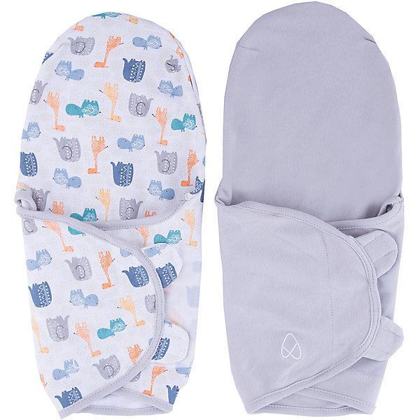 Конверт на липучке Swaddleme, размер S/M, (2шт.), серый/ богемные джунглиКонверты для пеленания<br>Набор из 2 хлопковых конвертов для пеленания новорожденных SwaddleMe. Мягко облегая, конверт не ограничивает движение ребенка, и в тоже время помогает снизить рефлекс внезапного вздрагивания, благодаря этому сон малыша и родителей будет более крепким.<br>Регулируемые крылья для закрытия конверта сделаны таким образом, что даже самый активный ребенок не сможет распеленаться во время сна.<br>Объятия крыльев регулируются по мере роста ребенка.<br>Конверт можно открыть в области ног малыша для легкой смены подгузников - нет необходимости разворачивать детские ручки.<br>Конверт для малышей среднего размера.<br>Количество в наборе: 2 шт. (разных расцветок)<br>Ширина мм: 150; Глубина мм: 220; Высота мм: 30; Вес г: 450; Возраст от месяцев: 0; Возраст до месяцев: 6; Пол: Унисекс; Возраст: Детский; SKU: 7191984;