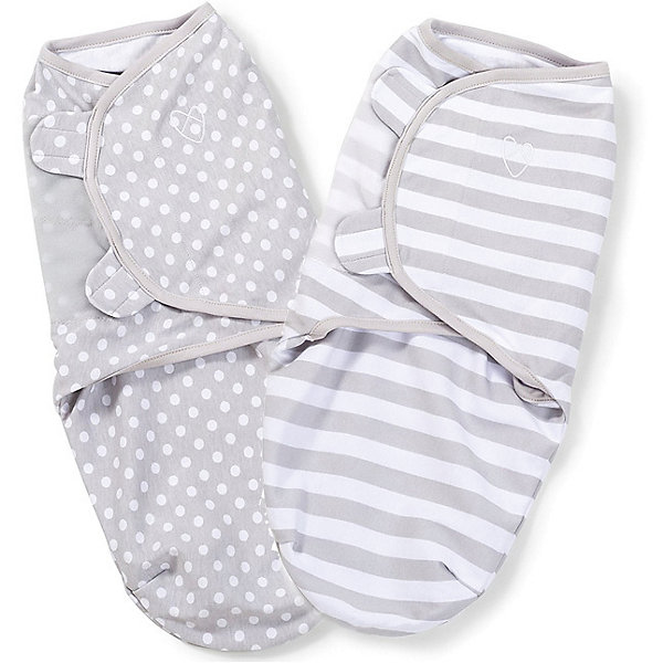 Конверт на липучке Swaddleme, размер S/M, (2 шт), серый/горошки/полоскиКонверты для пеленания<br>Набор из 2 хлопковых конвертов для пеленания новорожденных SwaddleMe. Мягко облегая, конверт не ограничивает движение ребенка, и в тоже время помогает снизить рефлекс внезапного вздрагивания, благодаря этому сон малыша и родителей будет более крепким.<br>Регулируемые крылья для закрытия конверта сделаны таким образом, что даже самый активный ребенок не сможет распеленаться во время сна.<br>Объятия крыльев регулируются по мере роста ребенка.<br>Конверт можно открыть в области ног малыша для легкой смены подгузников - нет необходимости разворачивать детские ручки.<br>Конверт для малышей среднего размера.<br>Количество в наборе: 2 шт. (разных расцветок)<br><br>Ширина мм: 150<br>Глубина мм: 220<br>Высота мм: 30<br>Вес г: 450<br>Возраст от месяцев: 0<br>Возраст до месяцев: 6<br>Пол: Унисекс<br>Возраст: Детский<br>SKU: 7191986
