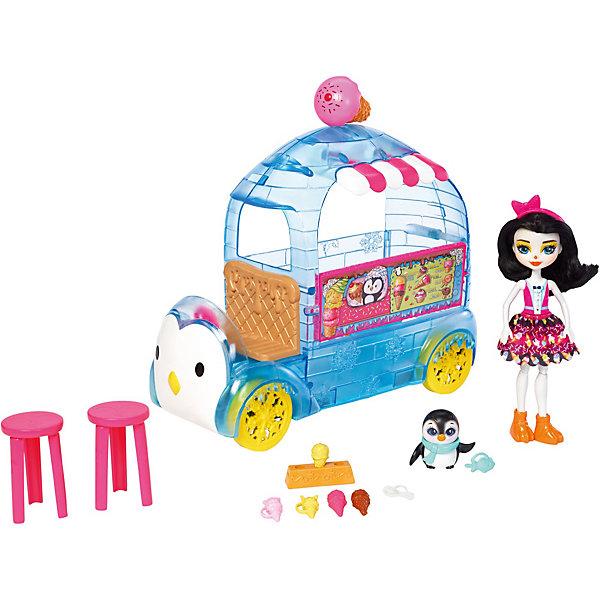 Игровой набор Enchantimals Фургончик мороженого Прины ПингвиныКуклы<br><br>Ширина мм: 388; Глубина мм: 261; Высота мм: 132; Вес г: 790; Возраст от месяцев: 48; Возраст до месяцев: 96; Пол: Женский; Возраст: Детский; SKU: 7192684;