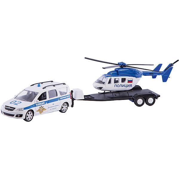 Машинка Autotime Полиция Lada Largus с вертолетом, 1:38Машинки<br>Игрушка транспортная из металла и пластмассы - автомобиль TM Autotime, Русская серия, масштаб 1:38, в комплекте машинка с инерционным механизмом и открываемыми передними дерями, прицеп, вертолет. Упаковано в  коробку с окошком.<br>Ширина мм: 315; Глубина мм: 74; Высота мм: 73; Вес г: 236; Возраст от месяцев: 36; Возраст до месяцев: 2147483647; Пол: Мужской; Возраст: Детский; SKU: 7192706;