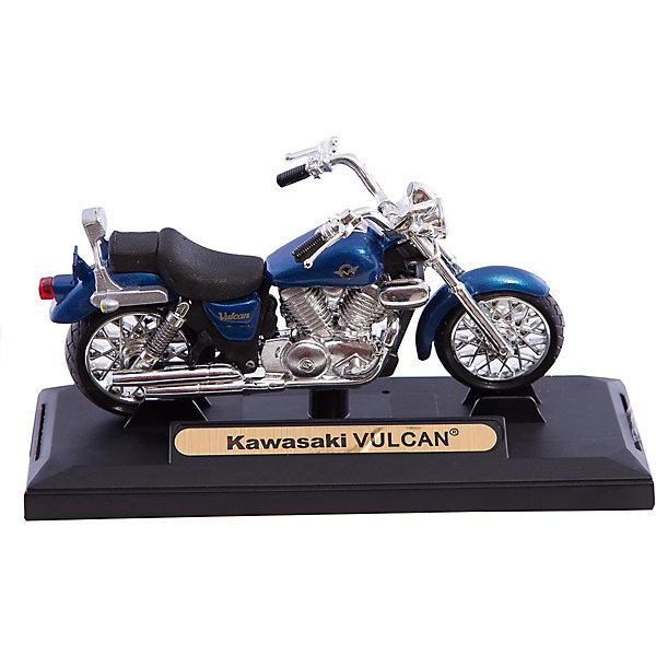 Коллекционный мотоцикл Autotime Kawasaki Vulcan, 1:18Машинки<br>Игрушка транспортная из металла и пластмассы - мотоцикл TM Autotime, серия Elite, масштаб 1:18, на пластиковой подставке,  коробка с окошком, поворачивается переднее колесо.<br><br>Ширина мм: 160<br>Глубина мм: 110<br>Высота мм: 70<br>Вес г: 161<br>Возраст от месяцев: 36<br>Возраст до месяцев: 2147483647<br>Пол: Мужской<br>Возраст: Детский<br>SKU: 7192740