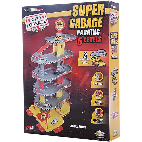 Игровой набор Faro Гараж 6 уровней, 69 смПарковки и гаражи<br>Характеристики:<br><br>• тип игрушки: игровой набор;<br>• возраст: от 3 лет;<br>• размер: 50x12x65 см;<br>• вес: 267  гр;<br>• комплектация: 2 машинки, множество аксессуаров;<br>• упаковка: коробка;<br>• материал: пластик, картон;<br>• бренд:  FARO.<br><br>Игровой набор «Гараж 6-уровневый» 69см предназначен для маленьких автолюбителей от 3 лет. Большой набор включает в себя шесть этажей парковки, на которых размещаются множество машин. Также есть большое количество аксессуаров.<br><br>В процессе игры у детей вырабатывается ловкость, точность и слаженность движений, сноровка и координация, развивается мелкая и крупная моторика рук, двигательная активность.<br><br>Игровой набор «Гараж 6-уровневый» 69см можно купить в нашем интернет-магазине.<br>Ширина мм: 500; Глубина мм: 120; Высота мм: 650; Вес г: 267; Возраст от месяцев: 36; Возраст до месяцев: 2147483647; Пол: Мужской; Возраст: Детский; SKU: 7193409;