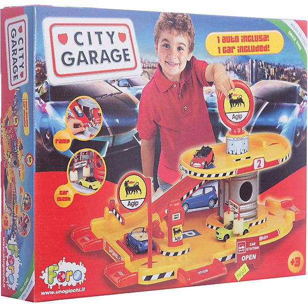 Игровой набор Faro Гараж 2 уровня, 35 смПарковки и гаражи<br>Характеристики:<br><br>• тип игрушки: игровой набор;<br>• возраст: от 3 лет;<br>• размер: 42x7x33 см;<br>• вес: 104  гр;<br>• комплектация: сборная 2-уровневая парковка, машинка Mercedes E500 (8 х 3 х 2 см.), инструкция по сборке, наклейки;<br>• упаковка: коробка;<br>• материал: пластик, картон;<br>• бренд:  FARO.<br><br>Игровой набор «Гараж 2-уровневый» 24см - это стоянка и сервисный центр для полицейских машин в одном. 2-уровневая парковка собирается из нескольких крупных деталей, а затем дополняется картонными деталями, которые Вы сами вырезаете из коробки. <br><br>Потом можно все еще и украсить наклейками, которые так же входят в комплект.<br>На первом этаже расположены диспетчерская будка, автоматическая мойка машин (с двумя свободно крутящимися поролоновыми валиками), бензозаправка и подъемник для ремонта машин (поднимается и опускается он вручную). На втором этаже – кафе и стоянка. Первый и второй этажи соединяет спуск с ограждениями. На выезде с парковки имеется шлагбаум и пандусы.<br><br>Игровой набор «Гараж 2-уровневый» 24см можно купить в нашем интернет-магазине.<br>Ширина мм: 420; Глубина мм: 70; Высота мм: 330; Вес г: 104; Возраст от месяцев: 36; Возраст до месяцев: 2147483647; Пол: Мужской; Возраст: Детский; SKU: 7193413;