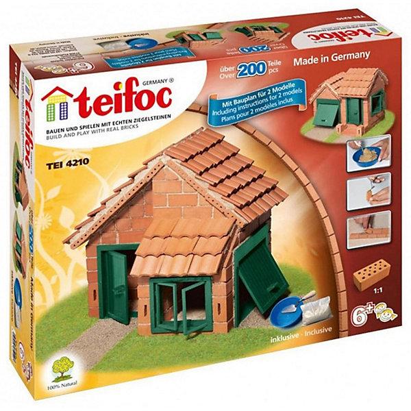 Конструктор из кирпичиков Teifoc Дом с черепичной крышей, 200 деталейКонструкторы из кирпичиков<br>Характеристики:<br><br>• возраст: от 6 лет<br>• в наборе 200 деталей: кирпичики; основание для постройки; двери; окна; цемент; мастерок; чаша; инструкция<br>• материал: обожженная глина, речной песок, кукурузный крахмал, пластик<br>• упаковка: картонная коробка<br>• размер упаковки: 35х8х29 см.<br><br>Строительный набор «Дом с черепичной крышей» - это необычный конструктор, который позволит создать уменьшенную копию настоящего деревенского домика. Подробная инструкция подскажет, как выстраивать стены, чтобы получился красивый, небольшой домик. Его можно конструировать в двух вариантах, следуя подсказкам, а можно подключить фантазию и возвести домик по индивидуальному проекту.<br><br>Домик строится из миниатюрных кирпичиков, скрепляемых между собой при помощи клейкой цементной смеси, которая разводится в специальной чаше и наносится на кирпичики при помощи мастерка.<br><br>Цементная смесь растворима в воде, что позволяет многократно перестраивать собранную конструкцию — для этого нужно всего лишь положить постройку в воду на 3-4 часа, после чего смесь растворится, и можно строить заново.<br><br>Элементы набора изготовлены из натуральных материалов: кирпичики – из обожженной глины, а цементная смесь из речного песка и кукурузного крахмала. Имеются пластиковые элементы - оконные рамы, двери.<br><br>Строительный набор поможет ребенку развить мелкую моторику рук, творческие способности, воображение, пространственное мышление и креативное мышление.<br><br>Строительный набор Дом с черепичной крышей (200дет,2 мод. минимум) можно купить в нашем интернет-магазине.<br><br>Ширина мм: 350<br>Глубина мм: 80<br>Высота мм: 290<br>Вес г: 288<br>Возраст от месяцев: 72<br>Возраст до месяцев: 2147483647<br>Пол: Мужской<br>Возраст: Детский<br>SKU: 7193431