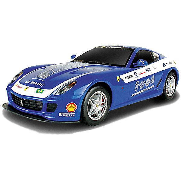 Радиоуправляемая машина MJX Ferrari 599 GTB Fiorano Panamerican, 1:20 (синяя)Радиоуправляемые машины<br>Характеристики:<br><br>• тип игрушки: машинка;<br>• возраст: от 8 лет;<br>• размер: 35x15х16 см;<br>• вес: 130 гр;<br>• масштаб: 1:20;<br>• время зарядки: 60 мин;<br>• питание машины: 3.6V 600 mAh (аккумулятор);<br>• питание пульта: 9V типа «Крона»;<br>• рабочая частота: 27.40 мГц;<br>•  привод: задний;<br>• комплектация:  машина, пульт управления, зарядное устройство, аккумулятор;<br>• упаковка: картонная коробка блистерного типа;<br>• материал: пластик;<br>• бренд: MJX.<br><br>Машина Ferrari 599 GTB FIORANO PANAMERICAN 1/20 выполнена по лицензии компании Ferrari S.p.A., она в точности повторяет свой малосерийный прототип. Помимо узнаваемого дизайна игрушка оснащена также задним приводом, что придает больше сходства с суперкаром. Радиоуправляемая модель способна двигаться во всех направлениях и поддерживает функцию смены скоростей.<br><br>Машина имеет четыре скорости при движении вперед и три скорости - при движении назад. Кроме того, игрушка поддерживает и световые функции; в зависимости от направления движения загораются фары или стоп-сигнал. <br><br>Корпус машины имеет яркий алый цвет и украшен на манер участника ралли. Вытянутые обтекаемые формы авто и уникальный дизайн колесных дисков, а также фирменное лого на решетке радиатора делают эту игрушечную копию максимально узнаваемой и уникальной среди других моделей. <br><br>Машину Ferrari 599 GTB FIORANO PANAMERICAN 1/20 можно купить в нашем интернет-магазине.<br>Ширина мм: 350; Глубина мм: 150; Высота мм: 160; Вес г: 130; Возраст от месяцев: 96; Возраст до месяцев: 2147483647; Пол: Мужской; Возраст: Детский; SKU: 7193435;