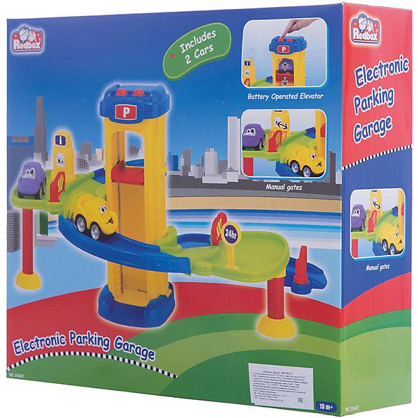 Парковка-гараж Red Box, электроникПарковки и гаражи<br>Характеристики:<br><br>• тип игрушки: набор;<br>• возраст: от 3 лет;<br>• размер: 40x11х35 см;<br>• вес: 173 гр;<br>• материал: пластик;<br>• бренд:  Red Box.<br><br>Гараж-парковка c электронным механизмом поднятия машинок подойдет в качестве подарка для детей от трех лет и старше. В комплекте набора есть две машинки. Особенностью такой игрушки считается электронный механизм, который поднимает машину в гараж.<br><br>Игрушка не оставит равнодушным ни одного ребенка. Кроме того, он сможет собрать целую серию наборов и играть вместе с друзьями. Все материалы прошли проверку на безопасность для детей. <br><br>Гараж-парковку c электронным механизмом поднятия машинок можно купить в нашем интернет-магазине.<br><br>Ширина мм: 400<br>Глубина мм: 110<br>Высота мм: 350<br>Вес г: 173<br>Возраст от месяцев: 36<br>Возраст до месяцев: 2147483647<br>Пол: Мужской<br>Возраст: Детский<br>SKU: 7193439