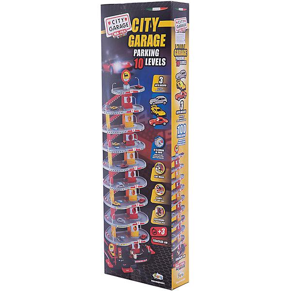 Игровой набор Faro Гараж 10 уровней, 113 смПарковки и гаражи<br>Характеристики:<br><br>• тип игрушки: игровой набор;<br>• возраст: от 3 лет;<br>• размер: 55x12x70 см;<br>• вес: 375  гр;<br>• комплектация: 3 машинки, аксессуары;<br>• упаковка: коробка;<br>• материал: пластик, металл;<br>• бренд:  FARO.<br><br>Игровой набор «Гараж 10-уровневый» 113см предназначен для маленьких автолюбителей от 3 лет. Большой набор состоит из двух парковок, соединенных между собой автодорогами. На трассе расставлены люминесцентные фонари, которые светятся в темноте. <br><br>В комплекте 3 металлических автомобиля. Игрушка выполнена из плотного глянцевого паркинга. Ее сборка не займет много времени, т.к. в наборе содержится минимум мелких деталей. <br><br>В процессе игры у детей вырабатывается ловкость, точность и слаженность движений, сноровка и координация, развивается мелкая и крупная моторика рук, двигательная активность.<br><br>Игровой набор «Гараж 10-уровневый» 113см можно купить в нашем интернет-магазине.<br><br>Ширина мм: 550<br>Глубина мм: 120<br>Высота мм: 700<br>Вес г: 375<br>Возраст от месяцев: 36<br>Возраст до месяцев: 2147483647<br>Пол: Мужской<br>Возраст: Детский<br>SKU: 7193455
