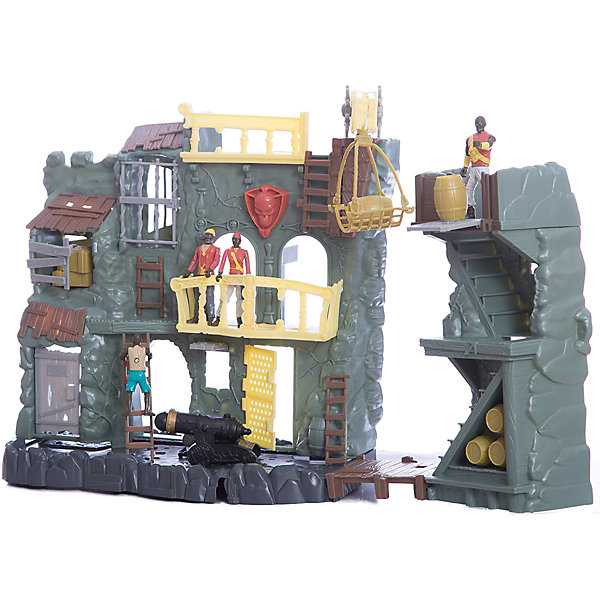 Игровой набор Red Box Пиратская крепость с аксессуарами, электроннаяДругие наборы<br>Характеристики:<br><br>• тип игрушки: набор;<br>• возраст: от 5  лет;<br>• размер: 47x10х35 см;<br>• вес: 158 гр;<br>• комплектация 4 фигурки пиратов, пушка, стреляющая ядрами, механический лифт, бочки, ящики, лестница;<br>• тип батареек: 2 х АА;<br>• наличие батареек: входят в комплект;<br>• материал: пластик;<br>• бренд:  Red Box.<br><br>Электронная пиратская крепость – это набор для обороны пиратского форта со всем необходимым снаряжением и пиратами. Нажми на череп, чтобы услышать звук. Игрушка изготовлена из качественного, безопасного материала и упакована в красочную коробку. <br><br>Ваш малыш с удовольствием окунётся в мир пиратских сражений. Штурм и защита крепости сопровождаются звуковыми и световыми эффектами. Для сюжетно-ролевой игры приготовлены 23 аксессуара.<br><br>Электронную пиратскую крепость можно купить в нашем интернет-магазине.<br><br>Ширина мм: 470<br>Глубина мм: 100<br>Высота мм: 350<br>Вес г: 158<br>Возраст от месяцев: 36<br>Возраст до месяцев: 2147483647<br>Пол: Мужской<br>Возраст: Детский<br>SKU: 7193461
