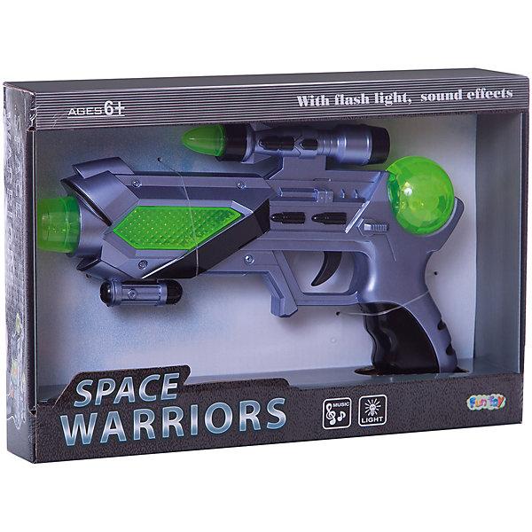 Космический бластер Fun Toy Space WarriorsИгрушечные пистолеты и бластеры<br>Характеристики:<br><br>• тип игрушки: бластер;<br>• возраст: от 6 лет;<br>• размер: 30x21x6 см;<br>• вес: 32 гр;<br>• упаковка: коробка блистерного типа;<br>• материал: пластик;<br>• бренд:  Fun Toy.<br><br>Космическое оружие «Бластер» подойдет для детей от шести лет и старше для веселой и увлекательно игры. Бластер станет отличным подарком юному любителю пострелять. С этим оружием вашему малышу не будут страшны никакие враги. Игрушка подсвечивается и издает звуки стрельбы, в точности имитируя выстрелы космического пистолета.<br><br>Световые и звуковые эффекты делают игрушку еще более интересной для малыша. кроме того, бластер  выполнен из качественных материалов, не вредных для детей. <br><br>Космическое оружие «Бластер» можно купить в нашем интернет-магазине.<br>Ширина мм: 300; Глубина мм: 60; Высота мм: 210; Вес г: 32; Возраст от месяцев: 72; Возраст до месяцев: 2147483647; Пол: Мужской; Возраст: Детский; SKU: 7193471;