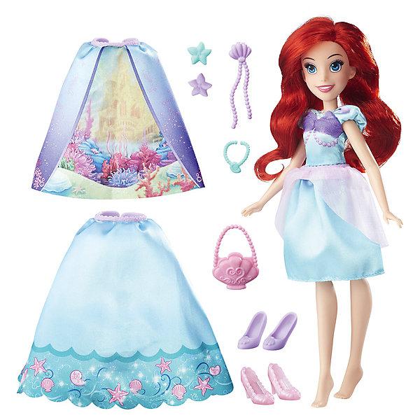 Кукла в  платье со сменными юбками, Принцессы Дисней, HasbroПринцессы Дисней<br><br>Ширина мм: 64; Глубина мм: 165; Высота мм: 356; Вес г: 197; Возраст от месяцев: 36; Возраст до месяцев: 144; Пол: Женский; Возраст: Детский; SKU: 7193732;