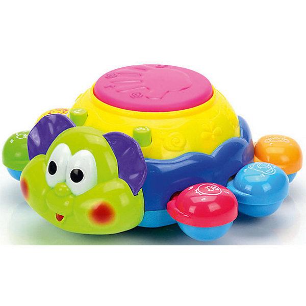 Развивающая игрушка Mioshi Веселый жукИнтерактивные игрушки для малышей<br>Характеристики товара:<br><br>• возраст: от 1 года;<br>• размер упаковки: 18х19х8,5 см.;<br>• состав: пластик;<br>• упаковка: картонная коробка открытого типа;<br>• вес в упаковке: 490 гр.;<br>• бренд, страна: Mioshi Baby, Китай;<br>• страна-производитель: Китай.<br><br>Развивающая игрушка «Веселый жук» - многофункциональная игрушка в виде насекомого-жучка идеально подходит для повседневных игр. <br><br>Порадует Вашего любознательного кроху забавным вращением, звучанием веселых мелодий и переливами ярких огоньков. Малыш услышит множество мелодий, которые помогут ему развить чувство ритма. Когда ребенок подрастет, будет учиться ходить и сможет катать жука за веревочку. <br><br>Выполненная в приятной цветовой гамме, игрушка имеет разнообразные интерактивные элементы, которые стимулируют развитие зрительного, слухового и тактильного восприятия ребенка. <br><br>Развивающую игрушку «Веселый жук» от Mioshi Baby можно купить в нашем интернет-магазине.<br>Ширина мм: 180; Глубина мм: 193; Высота мм: 85; Вес г: 490; Возраст от месяцев: 12; Возраст до месяцев: 2147483647; Пол: Унисекс; Возраст: Детский; SKU: 7194102;