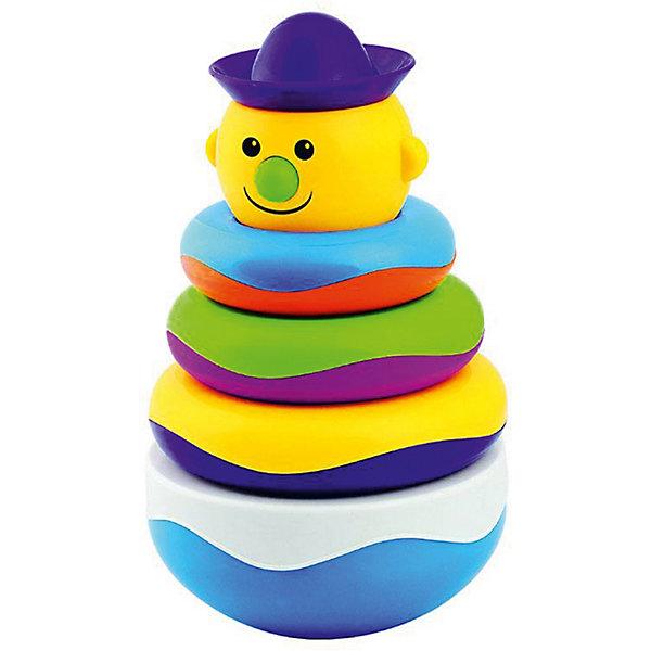 Пирамидка-неваляшка Mioshi Веселый клоунЮлы, неваляшки<br>Характеристики товара:<br><br>• возраст: от 1 года;<br>• размер упаковки: 11х21х11 см.;<br>• состав: пластик;<br>• упаковка: картонная коробка открытого типа;<br>• вес в упаковке: 530 гр.;<br>• бренд, страна: Mioshi Baby, Китай;<br>• страна-производитель: Китай.<br><br>Пирамидка-неваляшка «Веселый клоун» - это многофункциональная игрушка, которая поможет Вашему крохе научится фокусировать внимание, даст первые представления о категориях формы и цвета, поспособствует развитию мелкой моторики и сенсорики. <br><br>Яркая расцветка и приятный звук надолго завладеют вниманием малыша, а когда он немного подрастет, то сможет самостоятельно играть, собирая пирамидку.<br><br>Заботясь о здоровье малышей, Mioshi выпускает только сертифицированную продукцию из высококачественных, безопасных материалов.<br><br>Пирамидку-неваляшку «Веселый клоун» от Mioshi Baby можно купить в нашем интернет-магазине.<br>Ширина мм: 110; Глубина мм: 210; Высота мм: 110; Вес г: 530; Возраст от месяцев: -2147483648; Возраст до месяцев: 2147483647; Пол: Унисекс; Возраст: Детский; SKU: 7194116;