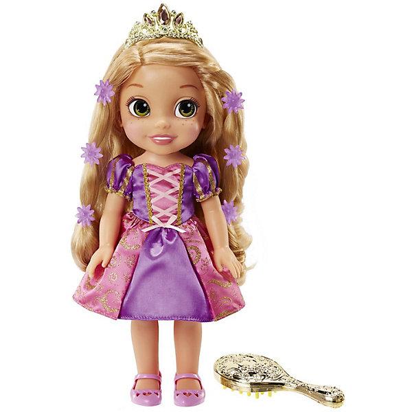Кукла Jakks Pacific Disney Princess Рапунцель со светящимися волосами, 38 смКуклы<br>Характеристики товара:<br><br>• возраст: от 3 лет;<br>• размер упаковки: 38х31х12 см.;<br>• состав: пластик;<br>• упаковка: картонная коробка;<br>• вес в упаковке: 1,1 кг.;<br>• бренд: Disney;<br>• страна-производитель: Китай.<br><br>Кукла со светящимися волосами «Принцесса Рапунцель» - главная героиня одноименного мультфильма Disney - обладательница невероятно длинных и волшебных волос, сбегает из высокой башни в густой чаще леса и отправляется в авантюрное путешествие вместе с новыми друзьями!<br><br>Кукла тщательно детализирована и выполнена в соответствии с персонажем любимого мультфильма. Проведите по волосам куклы расческой или нажмите на кнопку на платье - волосы Рапунцель начнут светиться и она исполнит песню из мультфильма! <br><br>Игрушка сделана из сертифицированных материалов и абсолютно безопасна для ребёнка - Disney проводит строгий аудит материалов и процесса производства.<br><br>Игры с такой куклой развивают логическое мышление, воображение, мелкую моторику и коммуникабельность.<br><br>Кукла со светящимися волосами «Принцесса Рапунцель» от Disney можно купить в нашем интернет-магазине.<br><br>Ширина мм: 380<br>Глубина мм: 310<br>Высота мм: 120<br>Вес г: 1118<br>Возраст от месяцев: 36<br>Возраст до месяцев: 2147483647<br>Пол: Женский<br>Возраст: Детский<br>SKU: 7194120
