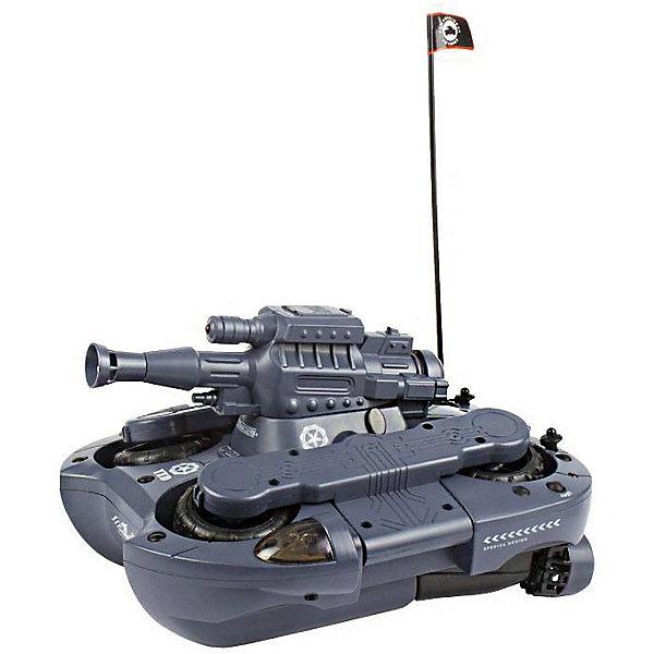 Радиоуправляемый танк-амфибия Mioshi Град-24Радиоуправляемые танки<br>Характеристики товара:<br><br>• возраст: от 8 лет;<br>• размер упаковки: 36х25х17 см.;<br>• состав: пластик, металл;<br>• наличие батареек: в комплекте;<br>• упаковка: картонная коробка;<br>• вес в упаковке: 3,4 кг.;<br>• бренд, страна: Mioshi, Китай;<br>• страна-производитель: Китай.<br><br>Танк-амфибия р/у «Град-24» - отличный подарок любому мальчишке, которая надолго станет его самой любимой игрушкой! Ни один мальчишка не останется равнодушным к многофункциональному танку на пульте управления от Mioshi Tech.<br> <br>Этот боевой танк-амфибия легко передвигается как по суше, так и по воде. Он развивает скорость до 10 км/ч, вращается на 360 градусов, а также стреляет шариками. Световые эффекты добавляют игре ещё большей зрелищности.<br><br>В комплект входят: пульт управления, антенна, зарядное устройство, отвёртка, все необходимые батарейки и шарики для стрельбы - 130 штук.<br><br>Танк-амфибия р/у «Град-24» от Mioshi можно купить в нашем интернет-магазине.<br>Ширина мм: 360; Глубина мм: 250; Высота мм: 170; Вес г: 3400; Возраст от месяцев: 96; Возраст до месяцев: 2147483647; Пол: Мужской; Возраст: Детский; SKU: 7194136;