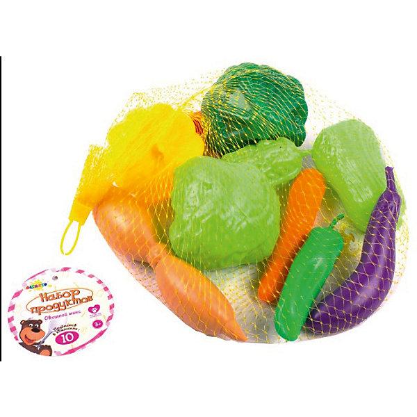 Набор продуктов Altacto Овощной микс, 10 предметовИгрушечные продукты питания<br>Характеристики товара:<br><br>• возраст: от 3 лет;<br>• размер упаковки: 29х22х9 см.;<br>• состав: пластик;<br>• упаковка: сетка;<br>• вес в упаковке: 210 гр.;<br>• бренд, страна: ALTACTO, Китай;<br>• страна-производитель: Китай.<br><br>Набор продуктов «Овощной микс» от Altacto станет отличным дополнением к ролевым играм вашего малыша. Порадуйте своего малыша таким ярким игровым аксессуаром!<br><br>В наборе 11 видов фруктов красивых, насыщенных цветов, которые выглядят совсем как настоящие!<br><br>Все игрушки выполнены из качественных материалов (экологически чистый пластик) и упакованы в пакет-сетку.<br><br>Набор продуктов «Овощной микс», 11 предметов, Altacto можно купить в нашем интернет-магазине.<br><br>Ширина мм: 290<br>Глубина мм: 220<br>Высота мм: 90<br>Вес г: 200<br>Возраст от месяцев: 36<br>Возраст до месяцев: 2147483647<br>Пол: Унисекс<br>Возраст: Детский<br>SKU: 7194150