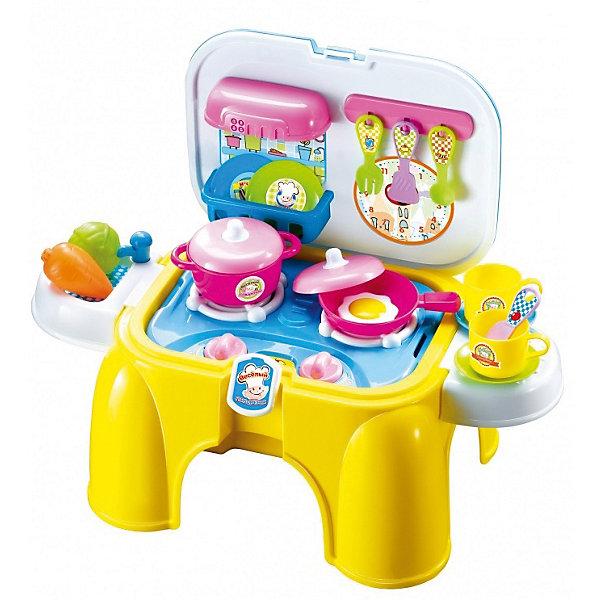 Кухня Altacto Веселый поваренокДетские кухни<br>Характеристики товара:<br><br>• возраст: от 3 лет;<br>• размер упаковки: 39х27х19,5 см.;<br>• состав: пластик;<br>• наличие батареек: не в ходит в комплект;<br>• упаковка: картонная коробка;<br>• вес в упаковке: 1, кг.;<br>• бренд, страна: ALTACTO, Китай;<br>• страна-производитель: Китай.<br><br>Игровой набор «Весёлый поварёнок» от Altacto станет настоящей находкой для маленького шеф-повара. <br><br>Набор выполнен из прочного ударостойкого пластика ярких цветов. В комплект входит плита в форме детского стульчика, полочки для посуды, кастрюля и сковорода с крышками, предметы посуды и продукты питания. Конфорки светятся и издают звук приготовления пищи. Продукты, посуда и весёлые наклейки  входят в комплект. Для работы световых и звуковых эффектов необходимы батарейки (в комплект не в ходят).<br><br>Игровой набор, который в любой момент можно аккуратно сложить и посидеть на нем, а при желании комфортно и легко транспортировать, взяв за ручку. <br><br>Ваш ребенок несомненно с интересом будет изучать особенности набора, развивая логическое мышление и придумывая увлекательные сюжетно-ролевые игры.<br><br>Игровой набор «Весёлый поварёнок» от Altacto можно купить в нашем интернет-магазине.<br>Ширина мм: 390; Глубина мм: 270; Высота мм: 195; Вес г: 1500; Возраст от месяцев: 36; Возраст до месяцев: 2147483647; Пол: Женский; Возраст: Детский; SKU: 7194152;