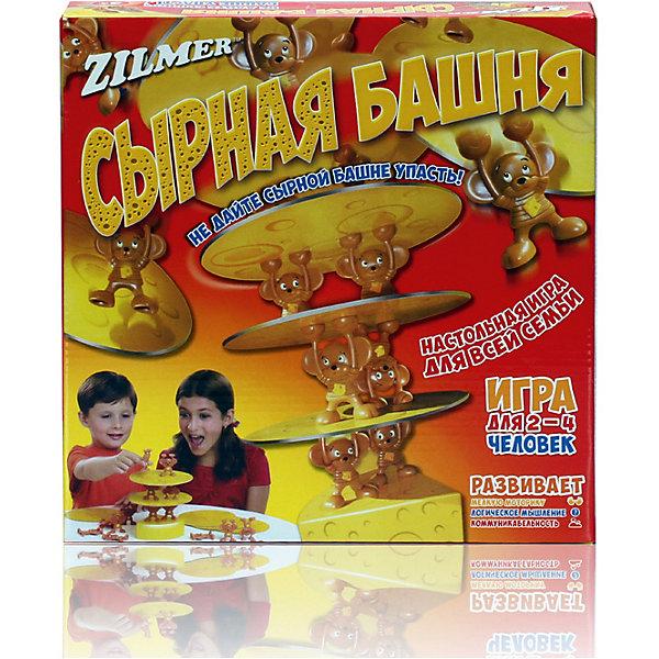 Настольная игра Zilmer Сырная башняНастольные игры для всей семьи<br>Характеристики товара:<br><br>• возраст: от 3 лет;<br>• размер упаковки: 27х27х6 см.;<br>• состав: пластик;<br>• упаковка: картонная каробка;<br>• вес в упаковке: 420 гр.;<br>• бренд, страна: Zilmer, Китай;<br>• страна-производитель: Китай.<br><br>Настольная игра для детей и всей семьи  «Сырная башня» от Zilmer - это увлекательная настольная игра, основная цель которой состоит в том, чтобы участники игры поочередно ставили мышат на пластинки из сыра, создавая башню, которая будет разрастаться с мимолетной скоростью.<br><br>Поддерживать башню своими лапками как раз и будут мышата. Чтобы повысить сложность игры для вашего противника и увеличить шансы на свою победу, вы можете поставить мышек на края конструкции вражеской башни. <br><br>В комплекте: игровая база, 7 пластинок сыра, 14 фигурок мышат.<br><br>Игра способствует развитию мелкой моторики, логического мышления и коммуникабельности.Игра для 2-4 человек.<br><br>Настольную игру для детей и всей семьи  «Сырная башня» от Zilmer можно купить в нашем интернет-магазине.<br>Ширина мм: 270; Глубина мм: 270; Высота мм: 60; Вес г: 420; Возраст от месяцев: 36; Возраст до месяцев: 2147483647; Пол: Унисекс; Возраст: Детский; SKU: 7194154;