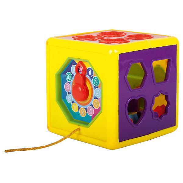Сортер Bebelot Волшебный кубик, 12 деталейРазвивающие игрушки<br>Характеристики товара:<br><br>• возраст: от 3 года;<br>• размер упаковки: 13х13х13 см.;<br>• состав: пластик;<br>• упаковка: картонная коробка открытого типа;<br>• вес в упаковке: 220 гр.;<br>• бренд, страна: Bebelot, Китай;<br>• страна-производитель: Китай.<br><br>Развивающая игра сортер «Волшебный кубик» от Bebelot - яркий, разноцветный сортер станет любимой игрушкой Вашей крохи. Игра с ним будет интересна на протяжении нескольких лет. Сначала малыш помещает фигуры в отверстия и катает куб за веревочку, затем изучает формы и цвета, осваивает счет и время.<br><br>Вместе с этим набором малютки развивают мелкую моторику, восприятие формы и цвета предметов, а также зрение. Игрушки Bebelot созданы специально для малышей, которые только начинают познавать этот волшебный мир.<br><br>Развивающая игра сортер «Волшебный кубик», 12 деталей, от Bebelot можно купить в нашем интернет-магазине.<br>Ширина мм: 130; Глубина мм: 130; Высота мм: 130; Вес г: 220; Возраст от месяцев: 36; Возраст до месяцев: 2147483647; Пол: Унисекс; Возраст: Детский; SKU: 7194174;