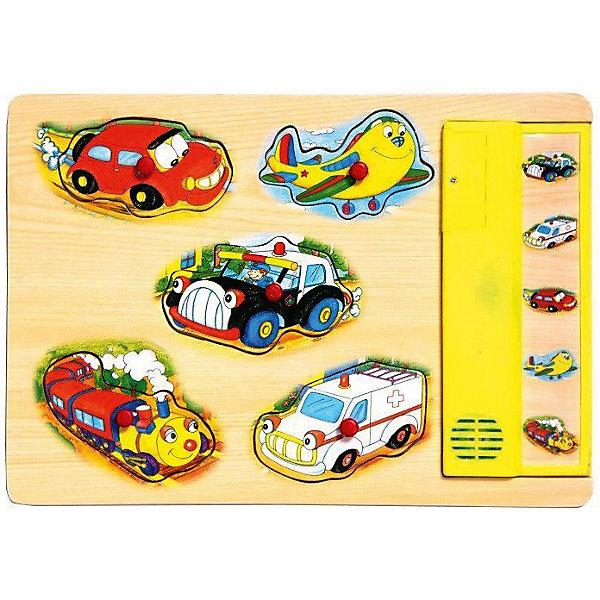 Деревянная рамка-вкладыш со звуком Altacto ТранспортДеревянные игрушки<br>Характеристики товара:<br><br>• возраст: от 3 лет;<br>• размер упаковки: 30,5х27х19,5 см.;<br>• состав: дерево;<br>• упаковка: пакет;<br>• вес в упаковке: 1,7 кг.;<br>• бренд, страна: ALTACTO, Китай;<br>• страна-производитель: Китай.<br><br>Деревянная звуковая игрушка «Транспорт» от Altacto - эта игрушка научит ребёнка  различать формы предметов и звук различного транспота. <br><br>Фигурки можно легко взять с помощью ручки-держателя, а нажав на изображение поезда, самолета, подарной машины или выбрав другую картинку, вы услышите звук, который издает этот вид транспота.<br><br>Деревянные игрушки Altacto – это качественные игрушки для развития малышей от 18 месяцев до 5 лет. Вместе с пазлами, фигурками и цифрами наборов Altacto ребёнок учится различать цвета и формы предметов, стимулирует логику и воображение, тренирует мелкую моторику.<br><br>Все игрушки изготовлены из экологически безопасных материалов и приятны на ощупь.<br><br>Деревянная звуковая игрушка «Транспорт» от Altacto можно купить в нашем интернет-магазине.<br>Ширина мм: 305; Глубина мм: 270; Высота мм: 195; Вес г: 1700; Возраст от месяцев: 36; Возраст до месяцев: 2147483647; Пол: Унисекс; Возраст: Детский; SKU: 7194184;