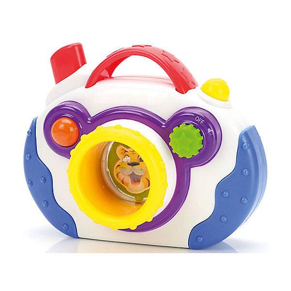 Развивающая игрушка Mioshi ФотоаппаратДетские гаджеты<br>Характеристики товара:<br><br>• возраст: от 1 года;<br>• размер упаковки: 21х1,6х8 см.;<br>• состав: пластик;<br>• упаковка: картонная коробка;<br>• вес в упаковке: 270 гр.;<br>• бренд, страна: Mioshi Baby, Китай;<br>• страна-производитель: Китай.<br><br>Развивающая игрушка «Фотоаппарат» -  это увлекательная и полезная игрушка, с подвижными деталями, звуковыми и световыми эффектами.<br><br>Малыш развивает важные навыки играя с этой эллектронной игрушкой: воображение и творческие способности, слуховое восприятие, концентрацию внимания и мелкую моторику.<br><br>Игрушка изготовлена из современных и гипоаллергенных материалов.<br><br>Развивающую игрушку «Фотоаппарат» от Mioshi Baby можно купить в нашем интернет-магазине.<br>Ширина мм: 210; Глубина мм: 16; Высота мм: 78; Вес г: 270; Возраст от месяцев: 12; Возраст до месяцев: 2147483647; Пол: Унисекс; Возраст: Детский; SKU: 7194190;