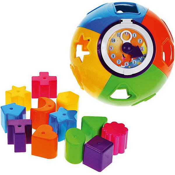 Сортер Mioshi Веселый мячРазвивающие игрушки<br>Характеристики товара:<br><br>• возраст: от 1 года;<br>• размер упаковки: 18х18х18 см.;<br>• состав: пластик;<br>• упаковка: картонная коробка открытого типа;<br>• вес в упаковке: 580 гр.;<br>• бренд, страна: Mioshi, Китай;<br>• страна-производитель: Китай.<br><br>Развивающая игра сортер «Веселый мяч» от Mioshi - яркий, разноцветный мяч, в который нужно складывать фигурки, станет любимой игрушкой Вашей крохи с первых дней жизни. <br><br>Он помогает развивать мышление, мелкую моторику, восприятие формы и цвета предметов, а также зрение.<br><br>Игрушки Mioshi созданы специально для малышей, которые только начинают познавать этот волшебный мир. Заботясь об их здоровье и безопасности, Mioshi выпускает только качественную продукцию, которая прошла сертификацию.<br><br>Развивающую игру сортер «Веселый мяч» от Mioshi можно купить в нашем интернет-магазине.<br>Ширина мм: 180; Глубина мм: 180; Высота мм: 180; Вес г: 580; Возраст от месяцев: 12; Возраст до месяцев: 2147483647; Пол: Унисекс; Возраст: Детский; SKU: 7194202;
