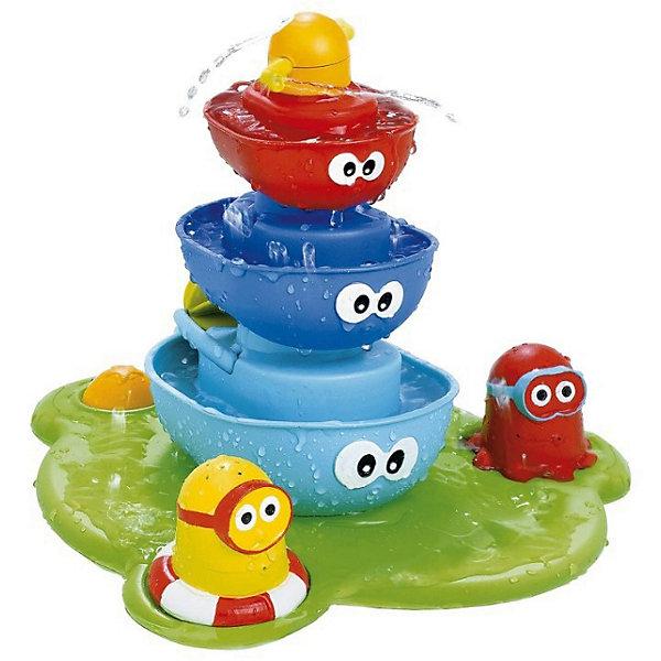 Игрушка для ванны Zhorya Забавный фонтанИгрушки для ванной<br>Характеристики товара:<br><br>• возраст: от 1 года;<br>• размер упаковки: 40х11х27,5 см.;<br>• состав: пластик;<br>• наличие батареек: не входят в комплект;<br>• упаковка: коробка блистерного типа;<br>• вес в упаковке: 890 гр.;<br>• бренд, страна: Zhorya, Китай;<br>• страна-производитель: Китай.<br><br>Игровой набор для купания «Забавные зверушки. Фантан» состоит из 5 предметов: плавучая база с креплением, 3 лодочки с глазками, 2 фигурки. Работает от батареек.<br><br>Плавучая база с креплением на присосках и насосом легко крепится на дне ванной. Насос качает воду через центральную часть, создавая волшебный фонтан. На базе размещаются лодочки, две фигурки, кнопка с глазками для включения подачи воды. Меняя фигурки и лодочки наверху, создаем разные эффекты волшебного фонтана. <br><br>Игрушка учит различать формы, развивает свето- и цветовосприятие, мелкую моторику, слуховые навыки, внимание, память, логическое мышление и творческое воображение.<br><br>Игровой набор для купания «Забавные зверушки. Фантан», от Zhorya можно купить в нашем интернет-магазине.<br><br>Ширина мм: 400<br>Глубина мм: 110<br>Высота мм: 275<br>Вес г: 890<br>Возраст от месяцев: 12<br>Возраст до месяцев: 2147483647<br>Пол: Унисекс<br>Возраст: Детский<br>SKU: 7194206