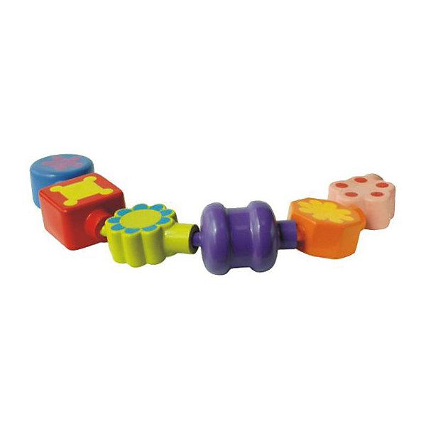 Шнуровка Жирафики БусинкаРазвивающие игрушки<br>Характеристики товара:<br><br>• возраст: от 1 года;<br>• комплект: 6 бусинок;<br>• размер упаковки: 12х10х17 см.;<br>• состав: ПВХ;<br>• упаковка: пластиковая баночка с ручкой;<br>• вес в упаковке: 310 гр.;<br>• бренд, страна: Жирафики, Россия;<br>• страна-производитель: Китай.<br><br>Развивающий набор «Бусинка» - в комплекте ребенок найдет 6 крупных бусин с необычным орнаментом различной формы. Малышу нужно попробовать собрать их в длинную нить, вставляя их друг в друга. <br><br>Играя с бусинами, ребенок учится различать цвета и формы, развивает мелкую моторику рук и тактильные ощущения. Бусины находятся в пластиковой банке с удобной ручкой на крышке.<br><br>Развивающий набор «Бусинка», 6 бусин в баночке, Жирафики можно купить в нашем интернет-магазине.<br><br>Ширина мм: 120<br>Глубина мм: 100<br>Высота мм: 170<br>Вес г: 310<br>Возраст от месяцев: 18<br>Возраст до месяцев: 2147483647<br>Пол: Унисекс<br>Возраст: Детский<br>SKU: 7195918