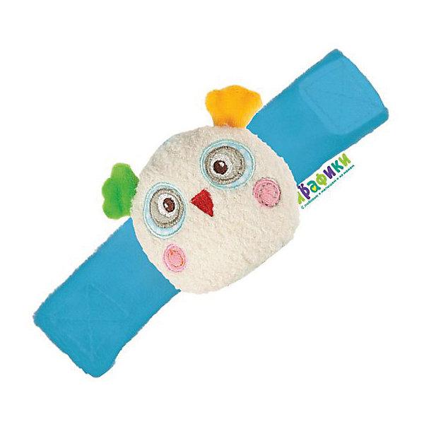 Мягкая игрушка-браслет Жирафики Совёнок БониИгрушки для новорожденных<br>Характеристики товара:<br><br>• возраст: от 0 года;<br>• размер упаковки: 15х3,5х9 см.;<br>• состав: плюш, текстиль, наполнитель;<br>• упаковка: пакет;<br>• вес в упаковке: 42 гр.;<br>• бренд, страна: Жирафики, Россия;<br>• страна-производитель: Китай.<br><br>Браслет на ручку «Совёнок Бонни» - этот мягкий браслет-погремушка на ручку для самых маленьких отличается оригинальной задумкой и интересным внешним видом. <br><br>У совенка разноцветные ушки, характерные большие глаза, красный клювик и розовые щечки, а крылья служат застежками. Таким образом, игрушка может всегда быть рядом с ребенком и вызывать самые приятные эмоции. Браслет застегивается на липучку. Длина его составляет 16,5 см. <br><br>Такие игрушки развивают у детей мелкую моторику рук, координацию движений, зрение и слух. Браслет изготовлен из текстиля. Цвет изделияв ассортименте и может варьироваться. <br><br>Браслет на ручку «Совёнок Бонни», 16,5 см., Жирафики можно купить в нашем интернет-магазине.<br><br>Ширина мм: 150<br>Глубина мм: 10<br>Высота мм: 90<br>Вес г: 42<br>Возраст от месяцев: -2147483648<br>Возраст до месяцев: 2147483647<br>Пол: Унисекс<br>Возраст: Детский<br>SKU: 7195920