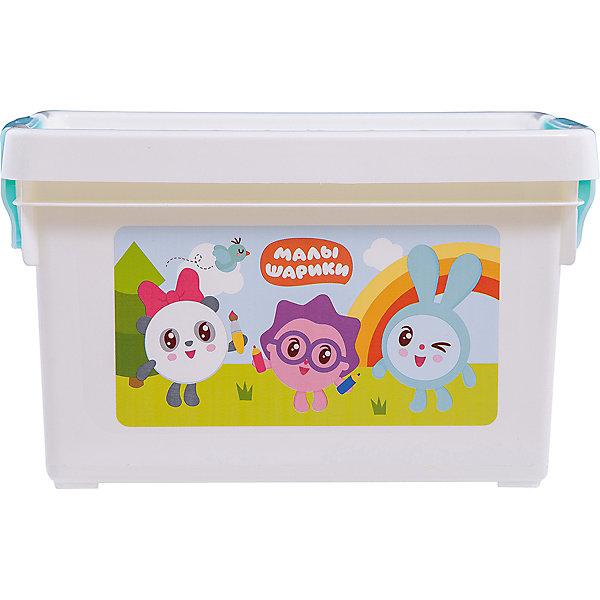 Ящик для хранения игрушек Little Angel Малышарики, 5,1 л.Ящики для игрушек<br>Характеристики:<br><br>• принт: Малышарики<br>• материал: полипропилен<br>• объем: 5,1 л.<br>• размер: 27,2х18,4х16,2 см.<br>• вес: 366 гр.<br><br>С ящиком для хранения мелочей «Малышарики» игрушкам, канцелярским принадлежностям и других важным мелочам всегда найдется место. А эксклюзивный декор с любимыми героями, несомненно, станет украшением детской комнаты.<br><br>Ящик плотно закрывается надежной крышкой с привлекательной текстурой. Удобные ручки позволят легко перемещать ящик.<br><br>При покупке нескольких ящиков предусмотрена возможность штабелирования их друг на друга.<br><br>Детский ящик для хранения мелочей Малышарики 5,1л можно купить в нашем интернет-магазине.<br>Ширина мм: 272; Глубина мм: 184; Высота мм: 162; Вес г: 366; Возраст от месяцев: 0; Возраст до месяцев: 36; Пол: Унисекс; Возраст: Детский; SKU: 7196259;